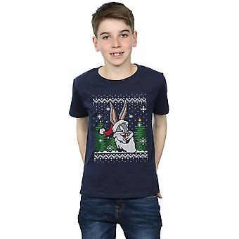 Looney Tunes drenge Bugs Bunny jul Fair Isle T-Shirt