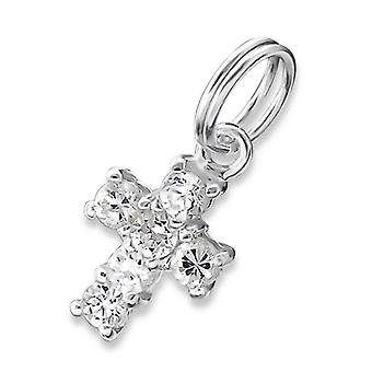 Cross - 925 Sterling Silver Charms With Split Ring - W18338x