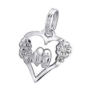Heart - 925 Sterling Silver Charms With Split Ring - W30048x