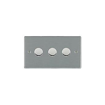 Hamilton Litestat Hartland Satin Stainless 3g 100W LED Dimmer SS