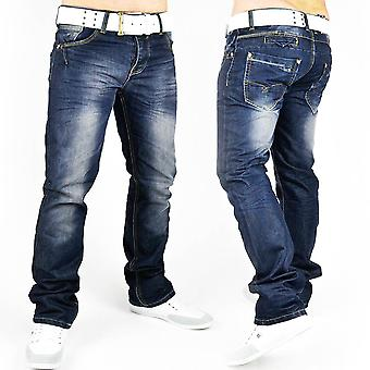 New men's jeans pants designer denim style slim fit clubwear eyecandy