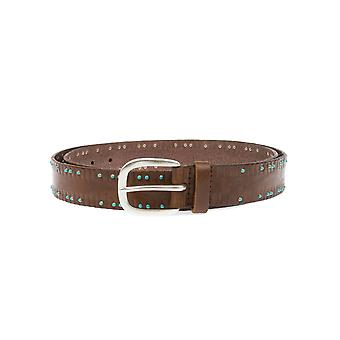 Orciani U07637BROWN Brown mens leather belt