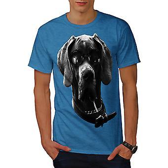 Swag Great Dane Dog Men Royal BlueT-shirt | Wellcoda