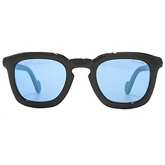 Moncler Mr Moncler Sunglasses In Black Blue Mirror