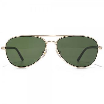 Montblanc Pilot Sunglasses In Gold