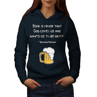 Beer Good God Love Women NavyHoodie | Wellcoda