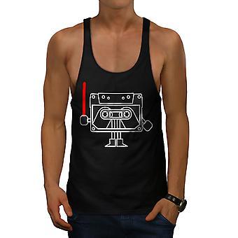 Cassette Trooper Men BlackGym Tank Top | Wellcoda