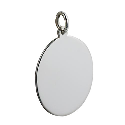 Silver 27x21mm plain oval Disc
