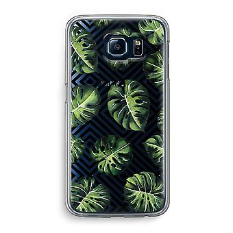 Samsung Galaxy S6 Transparent Case (Soft) - Geometric jungle