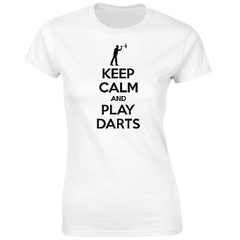 Keep Calm And Play Darts Womens T-Shirt 8 Colours (8-20) by swagwear