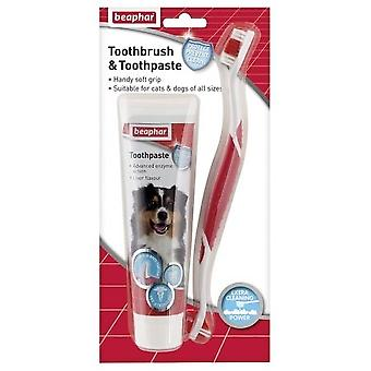 Beaphar Toothbrush & Toothpaste Dental Kit for Cats and Dogs