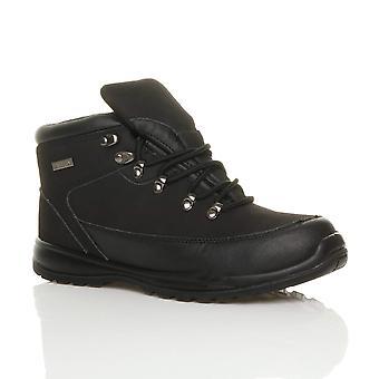 Ajvani para hombre cuero con encaje ligero puntera de acero suela Tapa flexible único EN345-SBP trabajo tobillo botas de seguridad