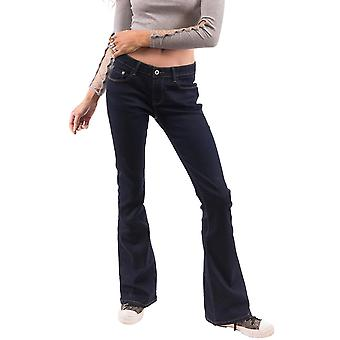 Bootcut Flared Stretch Jeans - Blue Indigo