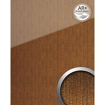Wall Panel glass optics WallFace 20218 ALIGNED gold AR + cladding reflecting adhesive abrasion resistant smooth in high gloss finish gold gold Brown 2,6 m2