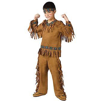 Native American Indian Warrior Cherokee västra bok vecka pojkar kostym