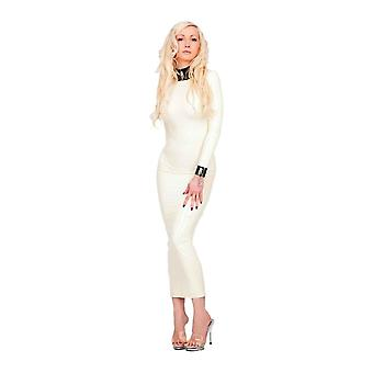 Vestover bundet Ariadne Hobble Latex gummi Dress.