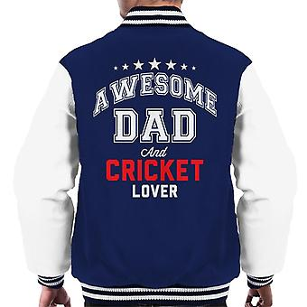 Awesome Dad And Cricket Lover Men's Varsity Jacket