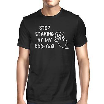 Stop Staring At My Boo Mens Black T-Shirt Halloween Matching Shirts