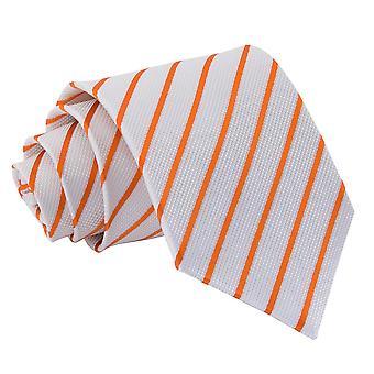 Wit & Oranje één streep klassieke Tie