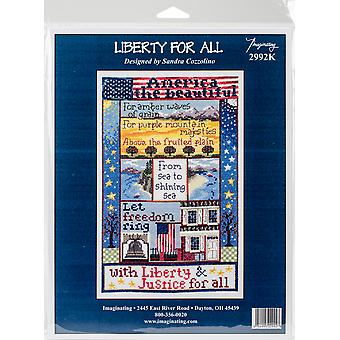 Liberty For All Counted Cross Stitch Kit-7.25