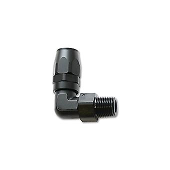Vibrant Performance 26910 Male 90 Degree Hose End Fitting HoseSize: -16AN x 3/4in. NPT 6061 Aluminum Anodized Black Male
