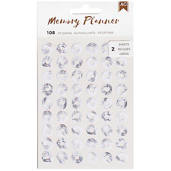 American Crafts Memory Planner Hole Reinforcer Stickers-Marble Crush