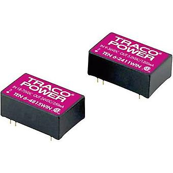 TracoPower TEN 6-2413WIN DC/DC converter (print) 24 Vdc 15 Vdc 400 mA 6 W No. of outputs: 1 x