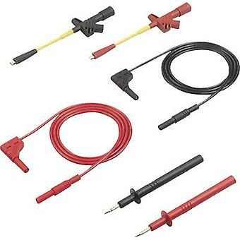 Safety test lead et [Banana jack 4 mm - Banana jack 4 mm] 1 m Black, Red SKS Hirschmann MMS 2010