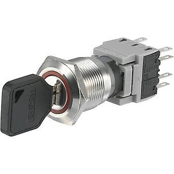 TRU COMPONENTS LAS1-BGQ-22Y/33 Key switch 250 V AC 5 A 2 x (On)/Off/(On) 1 x 90 ° IP40 1 pc(s)