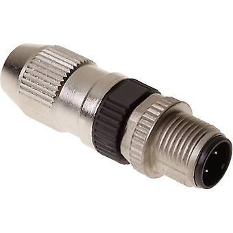 Harting 21 03 111 1405 Sensor/actuator connector M12 Plug, straight No. of pins (RJ): 4 1 pc(s)