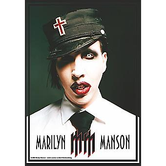 Marilyn Manson Uniform Large Fabric Poster / Flag 1100Mm X 750Mm
