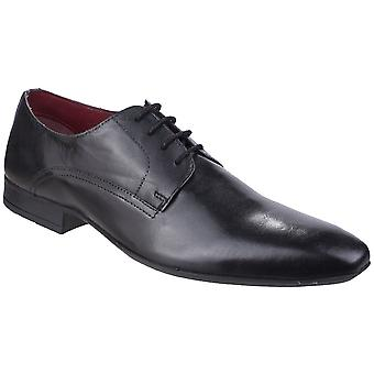 Lambretta Mens Alex Derby Plain Toe Lace-Up Leather Shoes