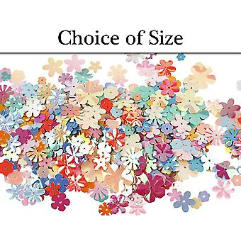 Assorted Flower Shaped Sequins - Choice of Pack Sizes