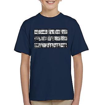 TV Times Beatles Lennon McCartney Show Photo Reel Kid's T-Shirt