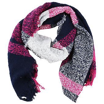 s.Oliver women's soft Bouclé scarf with checked pattern 38.899.91.3672