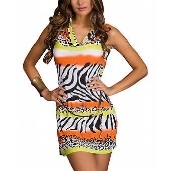 Waooh - longfin kustvisserij Zebra afdrukken jurk