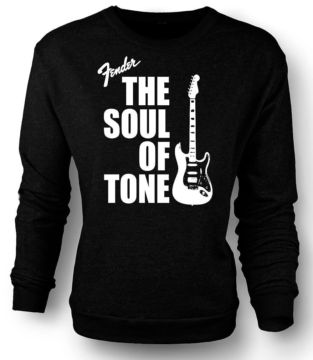 Mens Sweatshirt Fender Strat Seele Ton Gitarre