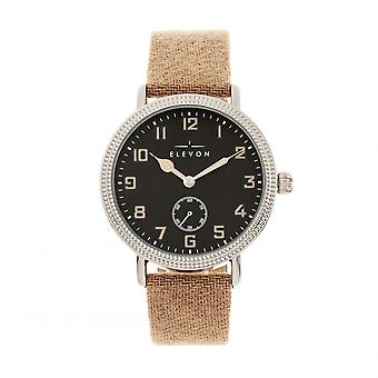 Elevon Northrop Wool-Overlaid Leather-Band Watch - Tan/Black