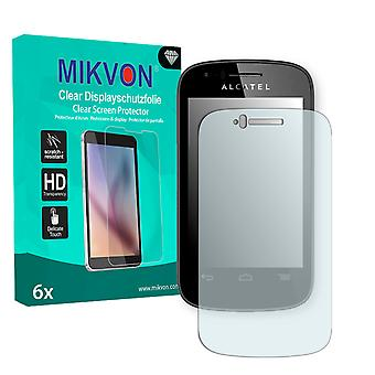 Alcatel One Touch Pop C1 Screen Protector - Mikvon Clear (Retail Package con accessori)