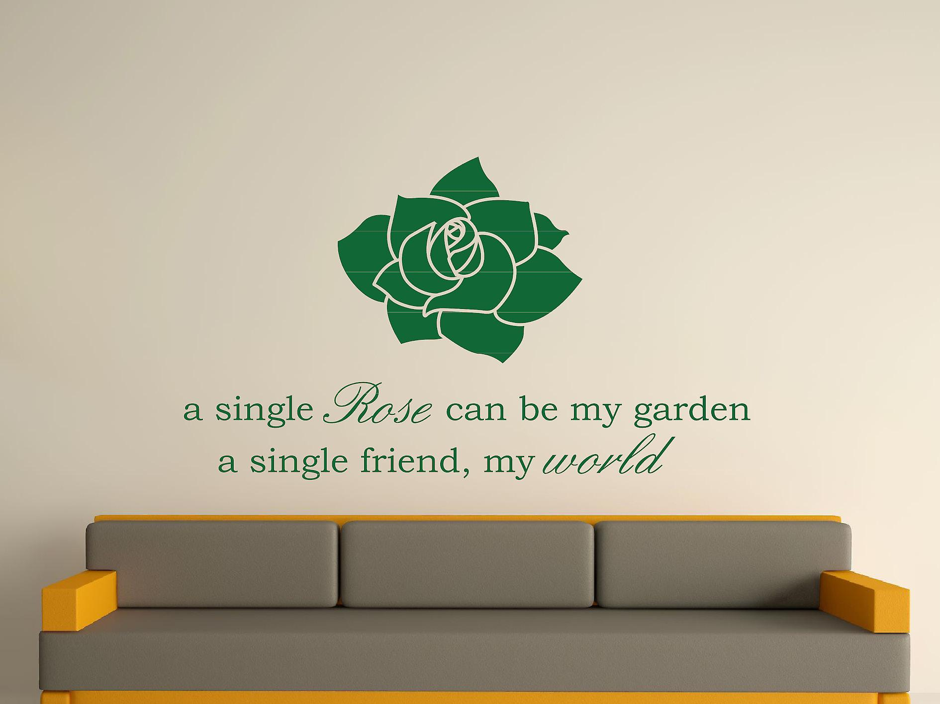 Een Single steeg Wall Art Sticker - Racing Green