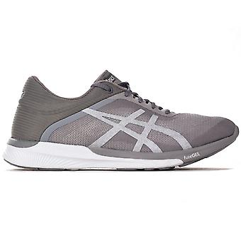 Asics FuzeX Rush mujeres ejecutando Trainer Fitness zapatos gris