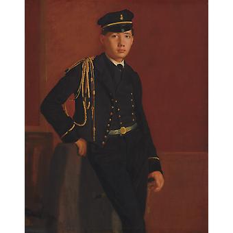Acbille de Gas en Aspirant de Marine,Edgar Degas,50x40cm