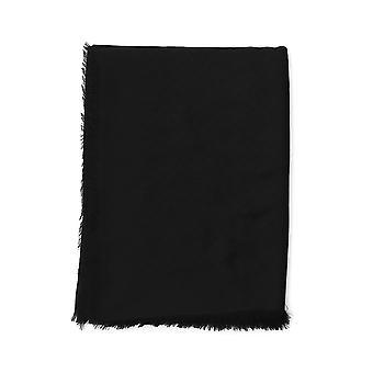 Fendi Black Silk Scarf