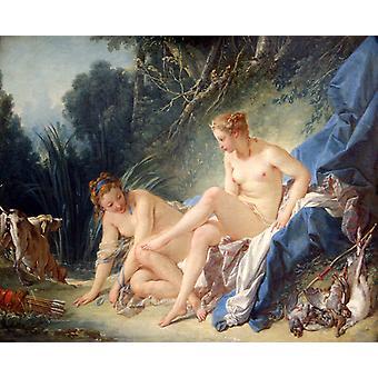 Diana etter bading, Francois Boucher, 50x40cm