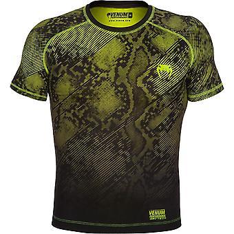 Venum Mens Fusion Kurzarm Compression Shirt - schwarz/gelb