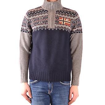 Napapijri Blue Wool Sweater