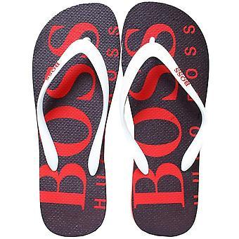 Boss Wave Flip Flops, Black/red