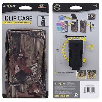 NITE IZE NYLON VERTIAL CLIP CASE CARGO POUCH WITH CLOSURE - DOUBLE WIDE MOSSY OA