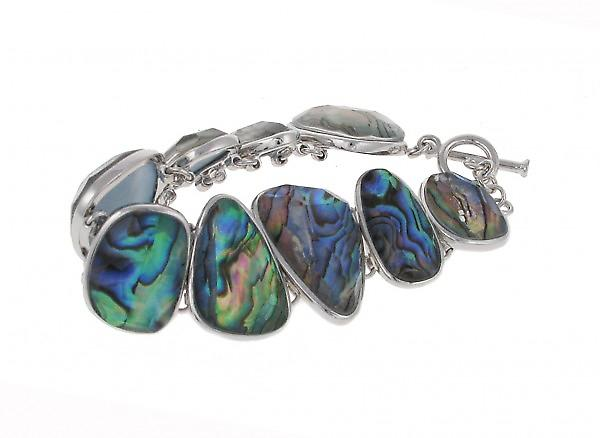 Cavendish French Abalone and Silver Pebbles Bracelet