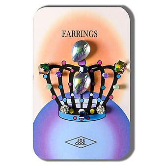 Crystal Crown Jewels Earring Set